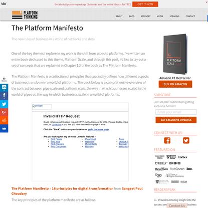 The Platform Manifesto - Platform Thinking Blog