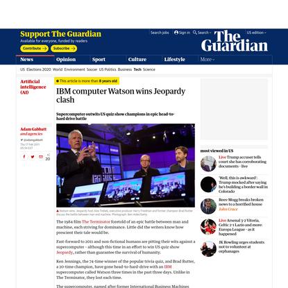 IBM computer Watson wins Jeopardy clash