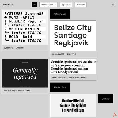Fonts Wants