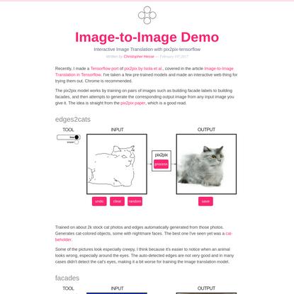 Image-to-Image Demo - Affine Layer