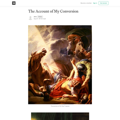 The Account of My Conversion