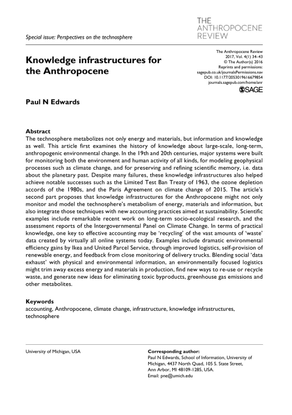 Knowledge infrastructures for the Anthropocene