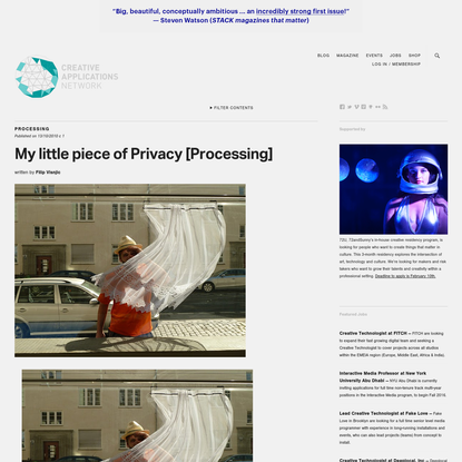 My little piece of Privacy [Processing]