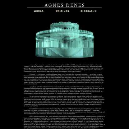 Agnes Denes