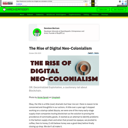 The Rise of Digital Neo-Colonialism