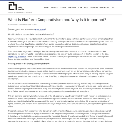 What is Platform Cooperativism and Why is it Important?
