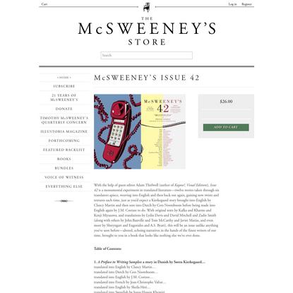 McSweeney's Issue 42