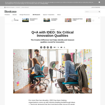 Q+A with IDEO: Six Qualities Driving Innovation in the Workplace - Steelcase