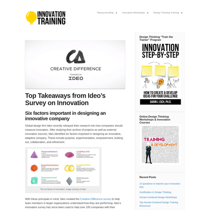Top Takeaways from Ideo's Innovation Survey   Innovation Training
