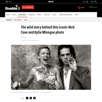 The wild story behind this iconic Nick Cave and Kylie Minogue photo