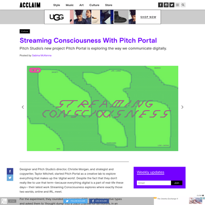 Streaming Consciousness With Pitch Portal