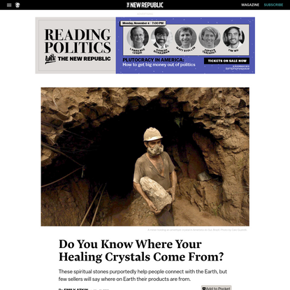 Do You Know Where Your Healing Crystals Come From?