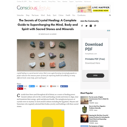 The Secrets of Crystal Healing: Sacred Stones For Supercharging Your Health