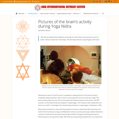 Pictures of the brain's activity during Yoga Nidra - Haa International Retreat Center
