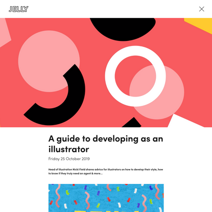 A guide to developing as an illustrator   Jelly London