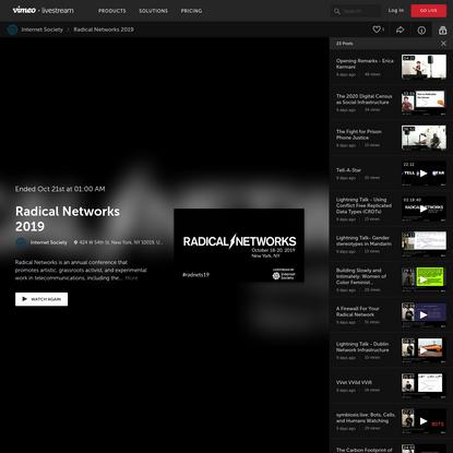 Radical Networks 2019 by Internet Society