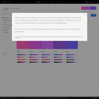 Adobe Color | Color wheel, a color palette generator