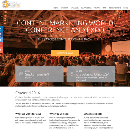 Content Marketing World - 2016 Marketing Event, Conference