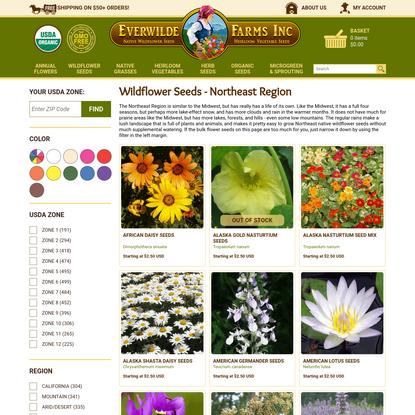 Native Wildflower Seeds Northeast   Flower Seeds Bulk
