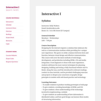 Interactive I
