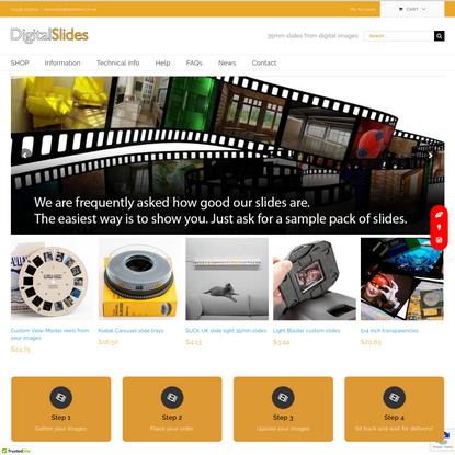 Digital Slides - 35mm slides from digital images