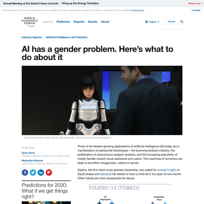 AI has a gender problem. Here's what to do about it