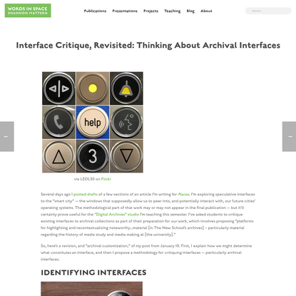 Interface Critique, Revisited: Thinking About Archival Interfaces