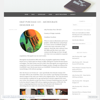 eBay Purchase #23 - Micrografx Designer 4.0