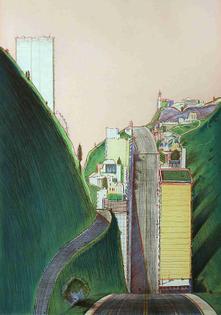 Wayne Thiebaud, Park Place, 1995