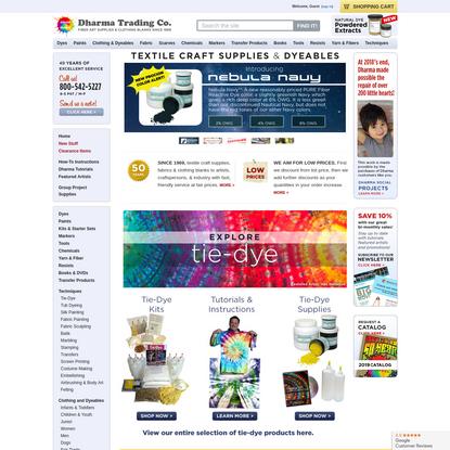 Dharma Trading Co. Homepage