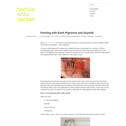Painting with Earth Pigments and Soymilk