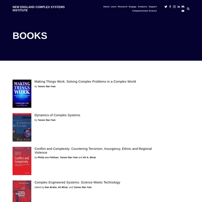 Books — New England Complex Systems Institute