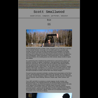 Scott Smallwood Homepage