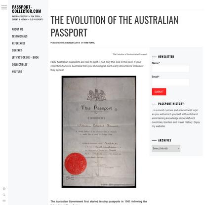 The Evolution of the Australian Passport * Passport-collector.com