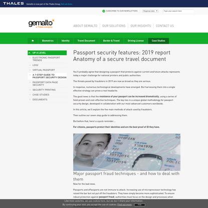 Secure passport: Security & design (2019 guide)   Gemalto