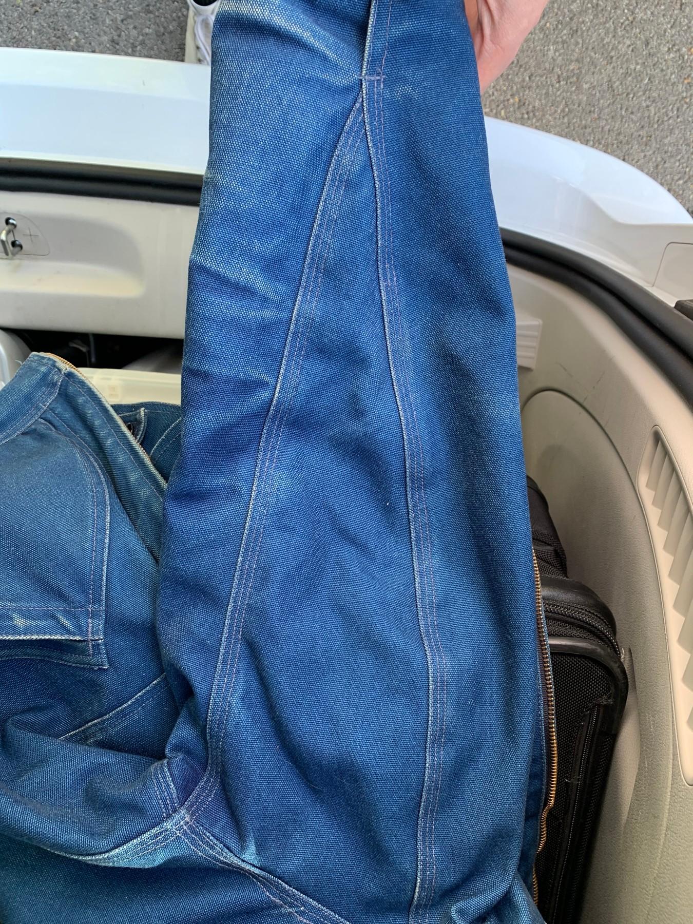 denim work jacket sleeve