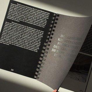 Throwback to the design of @jasmijnbul thesis #graphicdesign #glitterstudio #darkness #blackprint #shiney #publication #spir...
