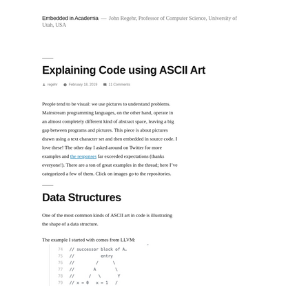 Explaining Code using ASCII Art