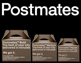 Meet the new Postmates, Logotype & Custom Type (2017)