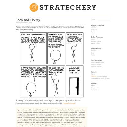 Tech and Liberty – Stratechery
