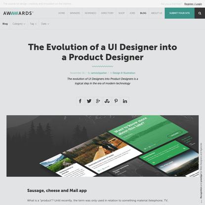 The Evolution of a UI Designer into a Product Designer