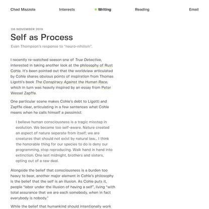 Self as Process • Chad Mazzola