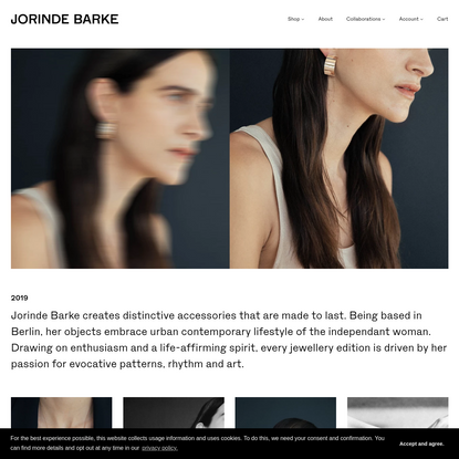 Jewellery & accessories crafted in Germany designed by Jorinde Barke