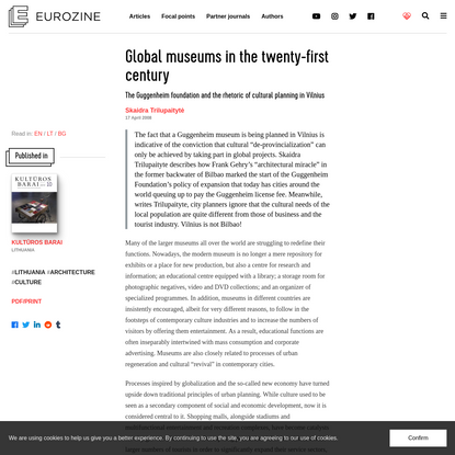 Global museums in the twenty-first century
