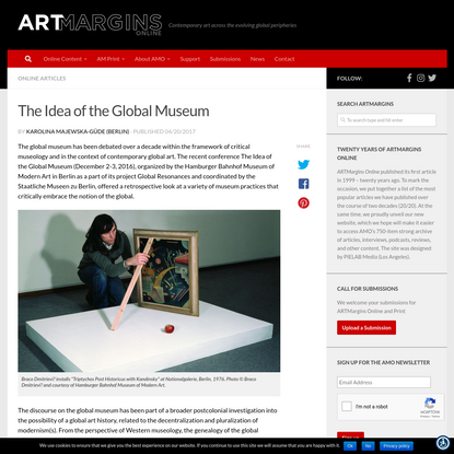The Idea of the Global Museum - ARTMargins