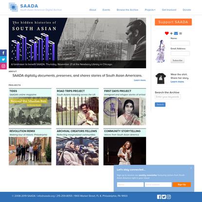 South Asian American Digital Archive (SAADA)