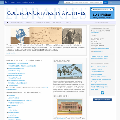 Columbia University Archives