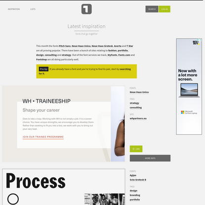 Typ.io: Fonts that go together