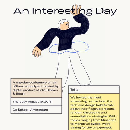 An Interesting Day 2018 - Amsterdam
