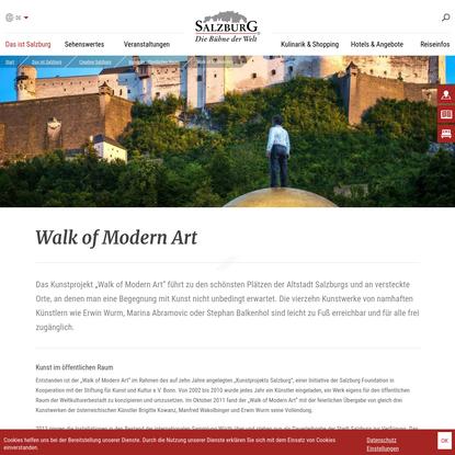 Walk of Modern Art : Creative Salzburg : salzburg.info